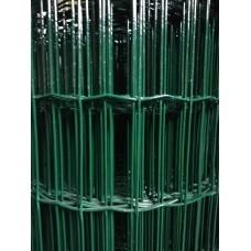 Електрозаварена мрежа ЦИНК+ПВЦ,Н1.5м,отвори 50/100 зелена