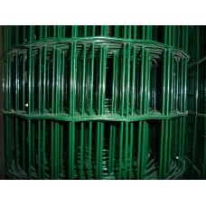 Електрозаварена мрежа ЦИНК+ПВЦ,Н1.2м,отвори 50/75 тъмно зелена