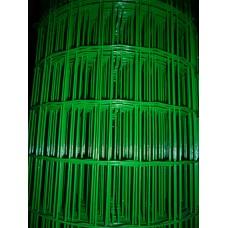 Електрозаварена мрежа ЦИНК+ПВЦ,Н1.5м,отвори 50/75 светло зелена