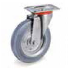 Колело от сива гума неоставяща следа въртящо 100 мм