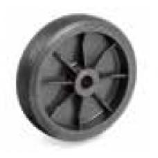 Колело от шприцвана черна гума 100 мм