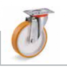 Колело от лят полиуретан въртящо 100 мм