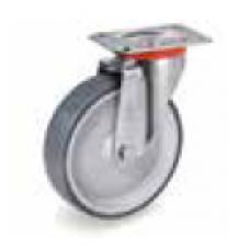 Колело от сива термопластична гума неоставяща следа въртящо 80 мм