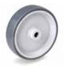 Колело от сива термопластична гума неоставяща следа 100 мм