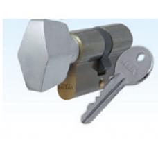 Ключалка секретна 30/30мм с ръкохватка месинг БДС