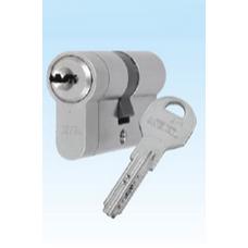 Ключалка ямкова 30/30 2x6J сатин прорязана